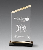 Acrylic award - Beveled Peak Award