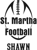 Vinyl sticker - St Martha Football