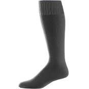 Noe Middle Football Black Sock Solid Color 273