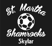 St Martha Sports Booster soccer vinyl car sticker
