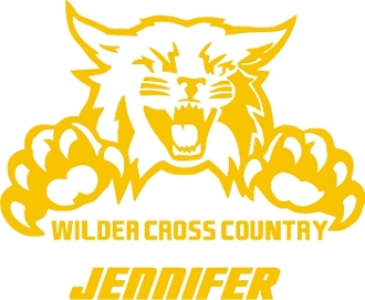 Wilder Cross Country Car decal includes player name