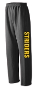 NE Striders Black Open Bottom sweatpants G184