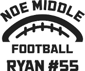 Noe Middle Football car decal