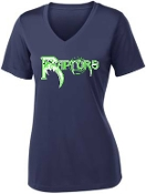 Highview Raptors Ladies moisture wicking V neck LST 353