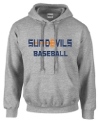 Sun Devils Baseball Sport Gray Hooded sweatshirt G18500