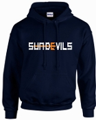 Sun Devils logo Navy Hooded sweatshirt G18500
