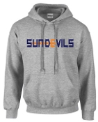 Sun Devils Logo Sport Gray Hooded sweatshirt G18500