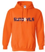 Sun Devils logo Orange Hooded sweatshirt G18500