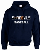 Sun Devils Baseball Navy Hooded sweatshirt G18500