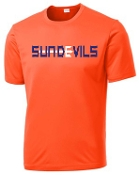 Sun Devils logo Orange Moisture wicking T shirt ST 350