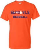 Sun Devils Baseball Orange T shirt G8000