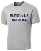 Sun Devils Baseball Silver gray Moisture wicking T shirt ST 350