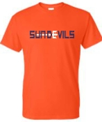 Sun Devils logo Orange T shirt G8000