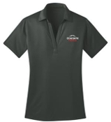 Noe Middle Football Womens Steel Gray Moisture wicking polo L540