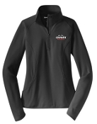 Noe Middle Football Ladies Charcoal 1/2 zip  pullover LST850