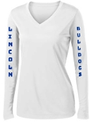 Lincoln XC long sleeve moisture wicking V Neck Womens LST353LS