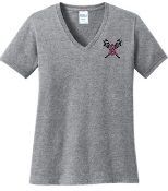 Ballard LAX LADIES CUT 100% cotton V neck LPC54V
