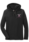 Ballard Lacrosse Anvil Ring Spun Cotton Hooded T 987