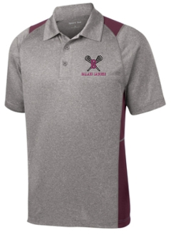 Ballard Lacrosse Mens Heather Contender polo ST665