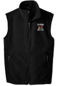 Louisville Ice Cardinals Youth Black Fleece full zip Vest Y219