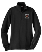 Louisville Ice Cardinals Women Black 1/4 zip pullover LST253