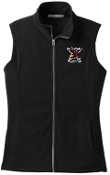 Louisville Ice Cardinals Ladies full zip Black Fleece Vest L226