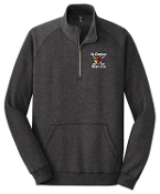 Louisville Ice Cardinals MENS Heather Black 1/4 zip DM392