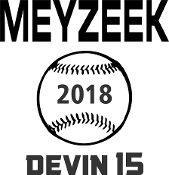 Meyzeek Baseball Car decal includes player name and number