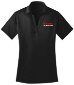 Meyzeek Baseball Ladies Black Moisture wicking polo L540