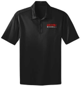 Meyzeek Baseball Mens Black Moisture wicking polo K540