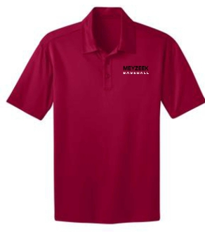 Meyzeek Baseball Mens Red Moisture wicking polo K540