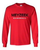 Meyzeek Baseball Red Long sleeve T-shirt cotton G2400