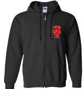 Noe Middle School Lax Black Full zip hooded sweatshirt P180