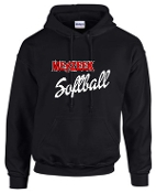 Meyzeek Softball Black Hooded sweatshirt 50/50 blend G18500