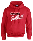 Meyzeek Softball Red Hooded sweatshirt 50/50 blend G18500