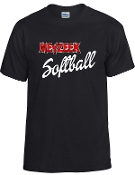 Meyzeek Softball 50/50 poly cotton blend t-shirt G8000