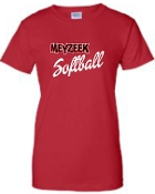 Meyzeek Softball Ladies T shirt G200L