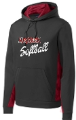 Meyzeek Softball Black Deep Red hoodie ST239