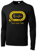 NE Striders NE048 Track and Field Black track logo shirt