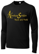 NE Striders NE049 Track and Field Black Letters only logo shirt