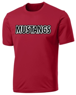 St Margaret Mary Mustangs Red Moisture wick t PC380