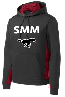 St Margaret Mary Black Deep Red SMM Hoodie ST239