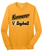 Kammerer Volleyball Gold Long sleeve T-shirt cotton PC54LS
