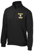 Kammerer Volleyball Mens 9 oz 1/4 zip Black sweatshirt ST253