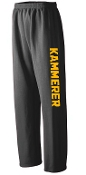 Kammerer Volleyball Open Bottom Black sweatpants G18400
