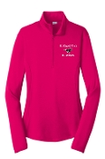 St Margaret Mary Pink Ladies embroidered 1/4 zip LST357