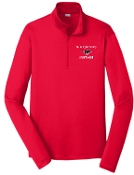 St Margaret Mary Red Mens embroidered 1/4 zip ST357