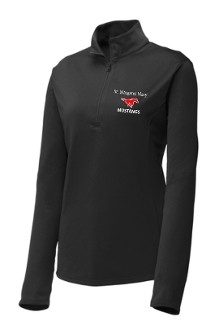St Margaret Mary Black Ladies embroidered 1/4 zip LST357