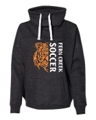 Fern Creek Soccer Cowl neck Melange fleece pullover