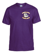 Louisville Male Football personalized purple T G8000
